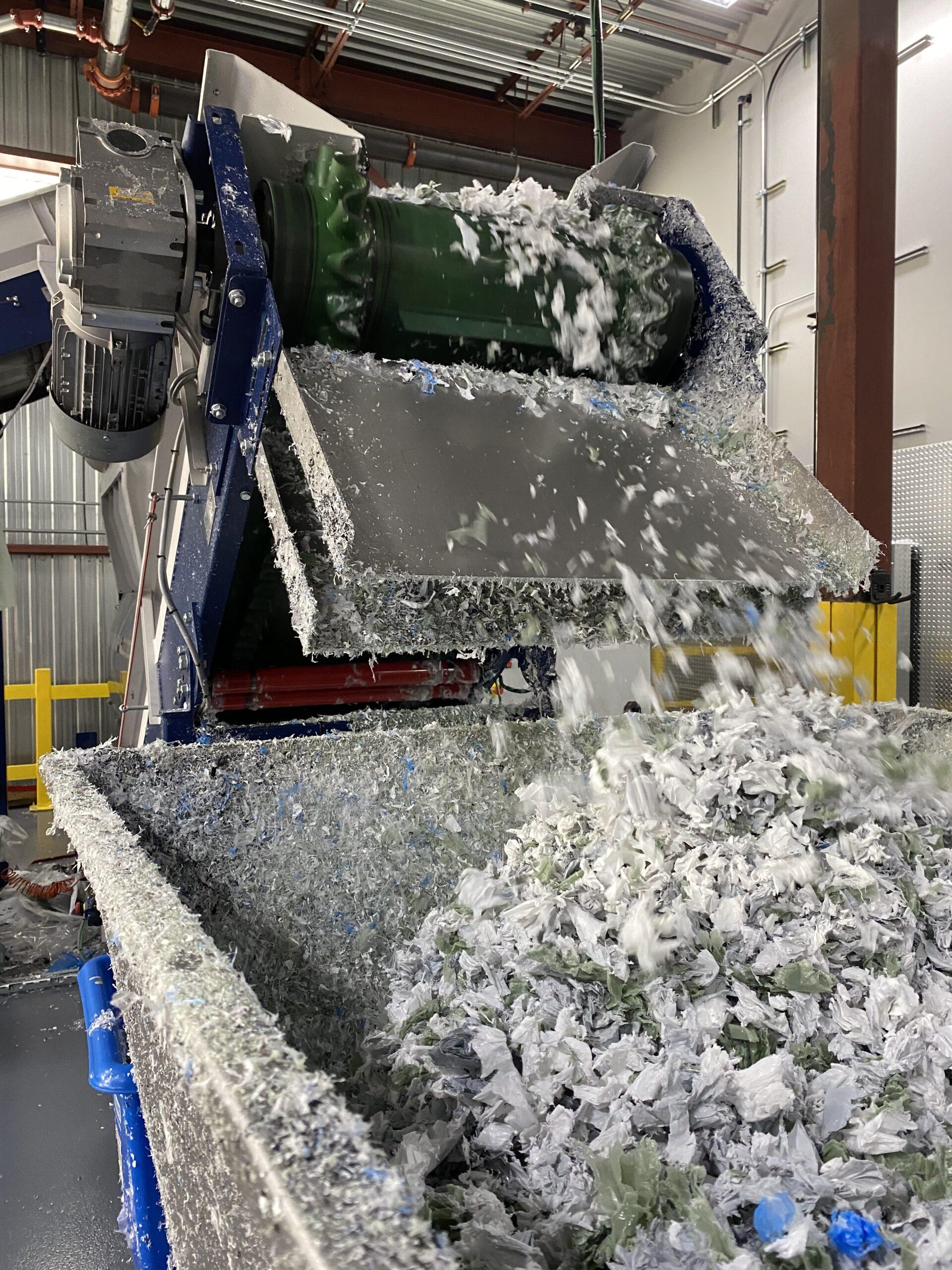 Ligne de recyclage de plastique
